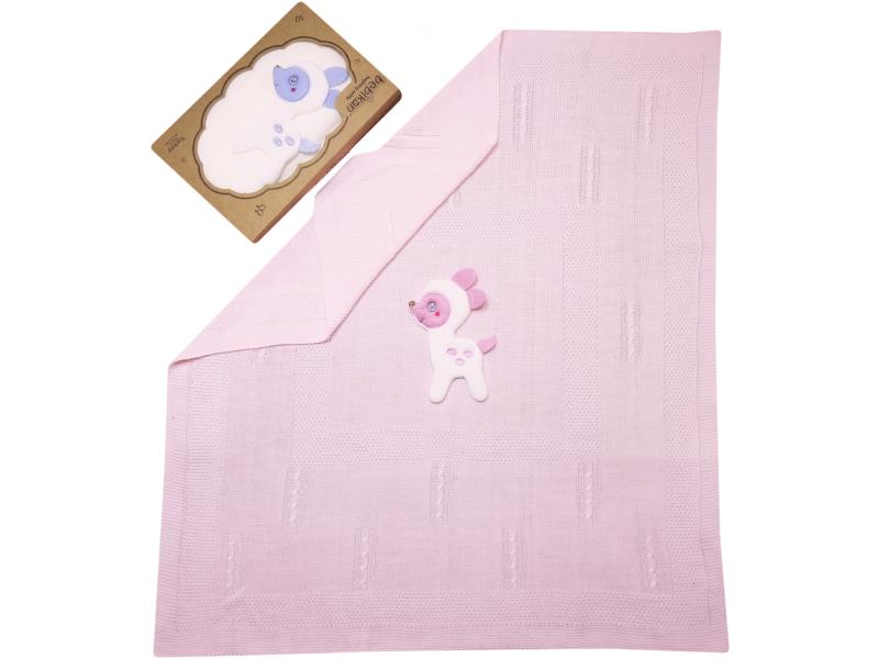 wholesale gazelle embroidered blanket for babies