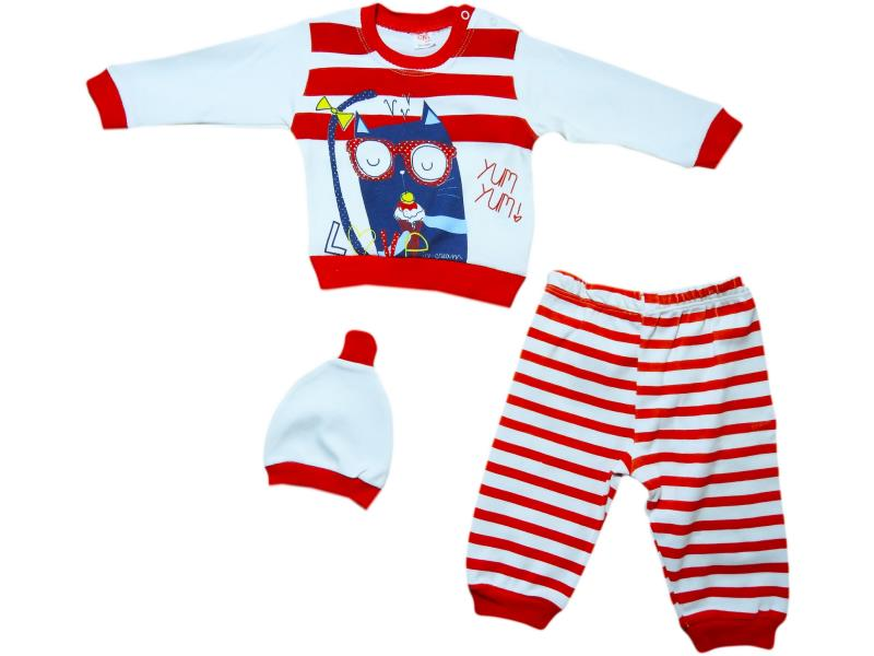 294  Wholesale children suits two-piece with hat striped for baby girls and boys at 9-12-18 months