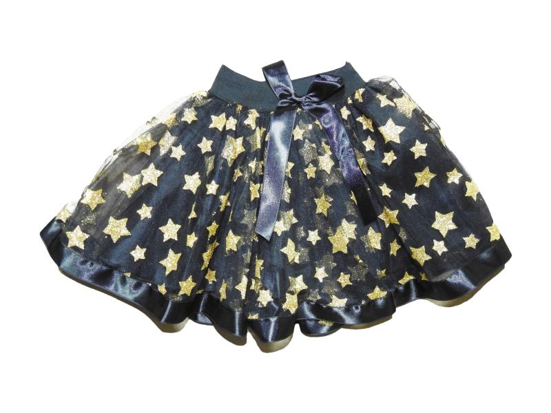 2310 Wholesale star embroidery tulle design skirt for girl kids clothes (5-6-7-8 age)