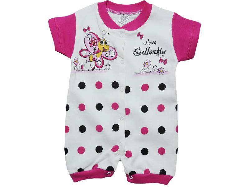 556 Wholesale butterfly printed romper for girl baby clothes (6-12-18 month)