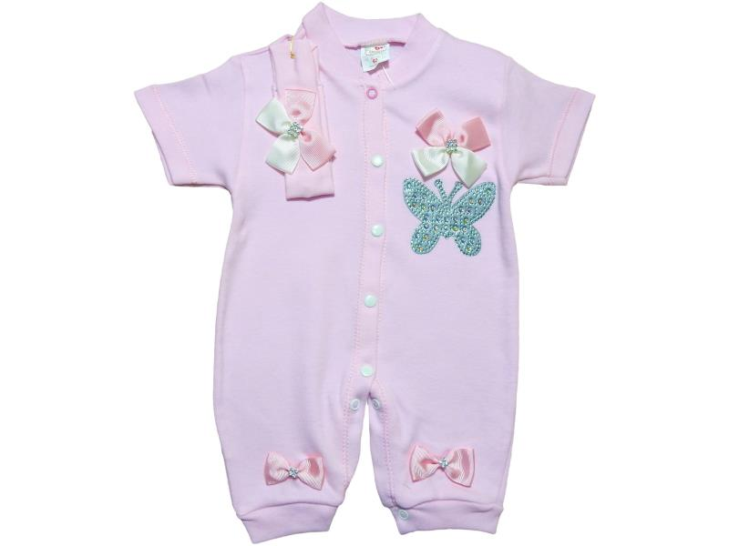 25023 Wholesale Romper with embroidered butterfly for girl baby clothes 62cm