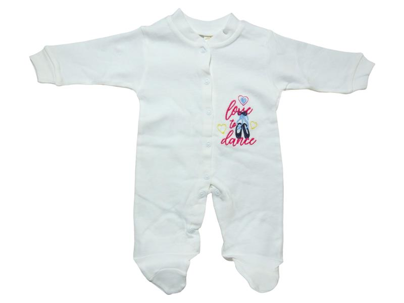 2039 kids Jumpsuit with embroidery love to dance, at wholesale prices, for baby girls 0-3 months