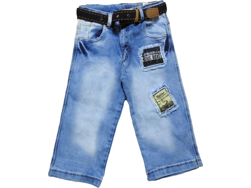2402 Wholesale children's shorts,Capri denim with patches, for boys 9-10-11-12 age