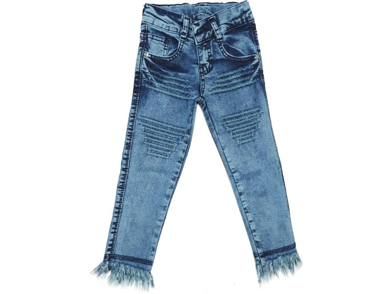Wholesale kids denim pants for girls 5-6-7-8 5-6-7-8 age