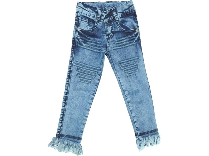 Wholesale kids denim pants for girls 9-10-11-12 age