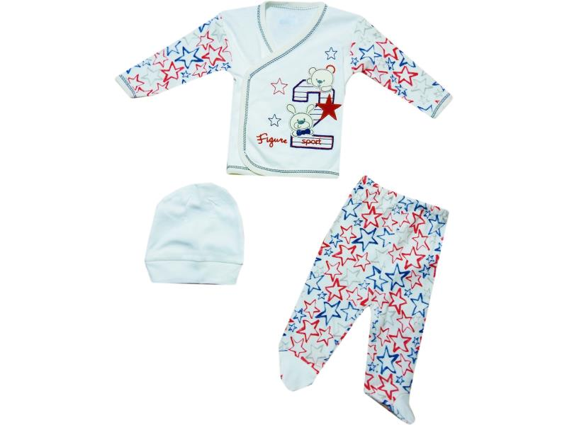 9102 Wholesale set newborn vest with Gazelle+cap+Romper 0-3 months