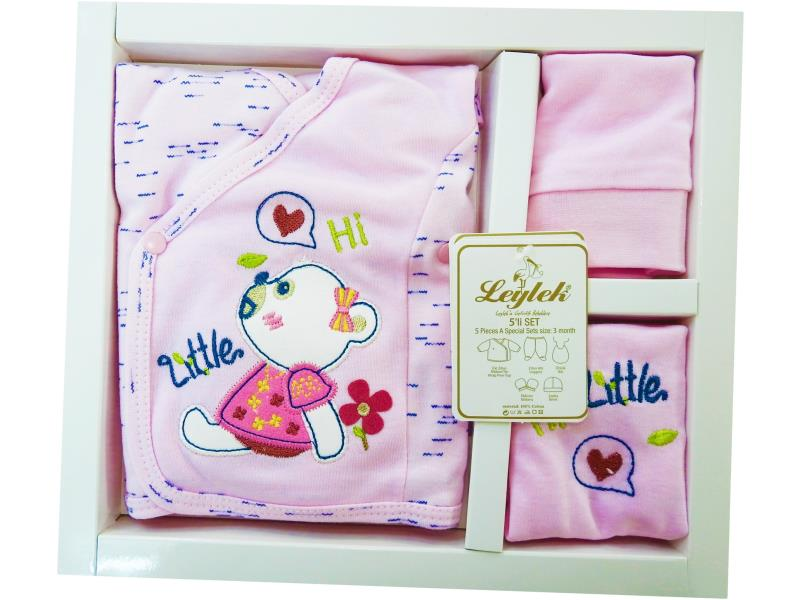 L-6609 Wholesale newborn set for babies 5 pieces in package