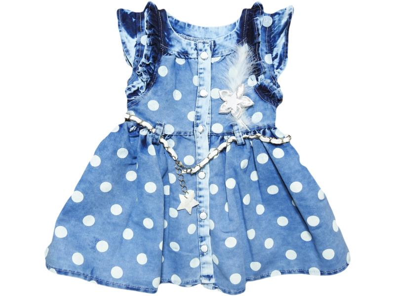 926 dress denim polka dot,summer,children, for girls 2-3-4-5 age