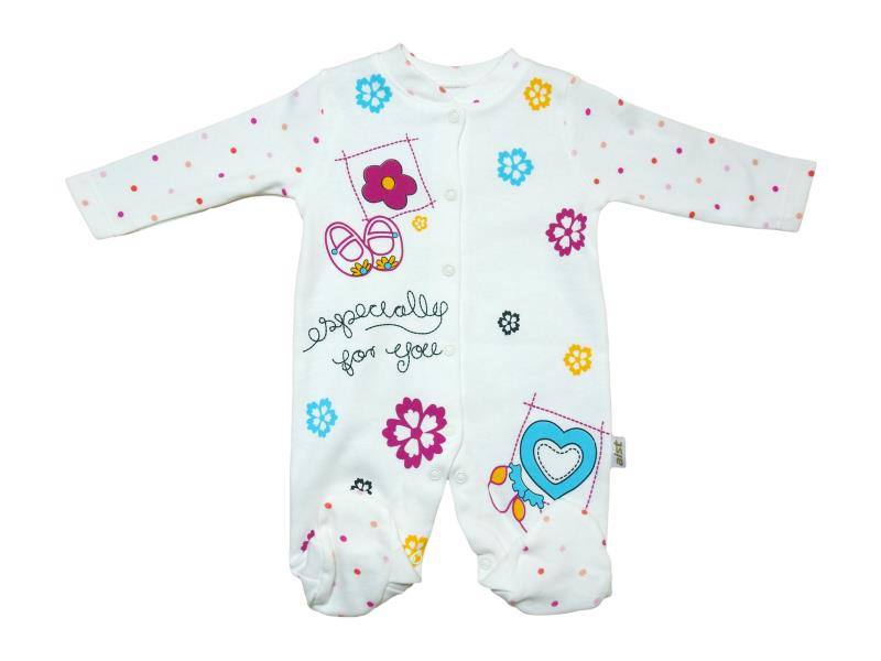 "3208 Wholesale Romper infant print ""flowers""for girls 3-6-9 months"