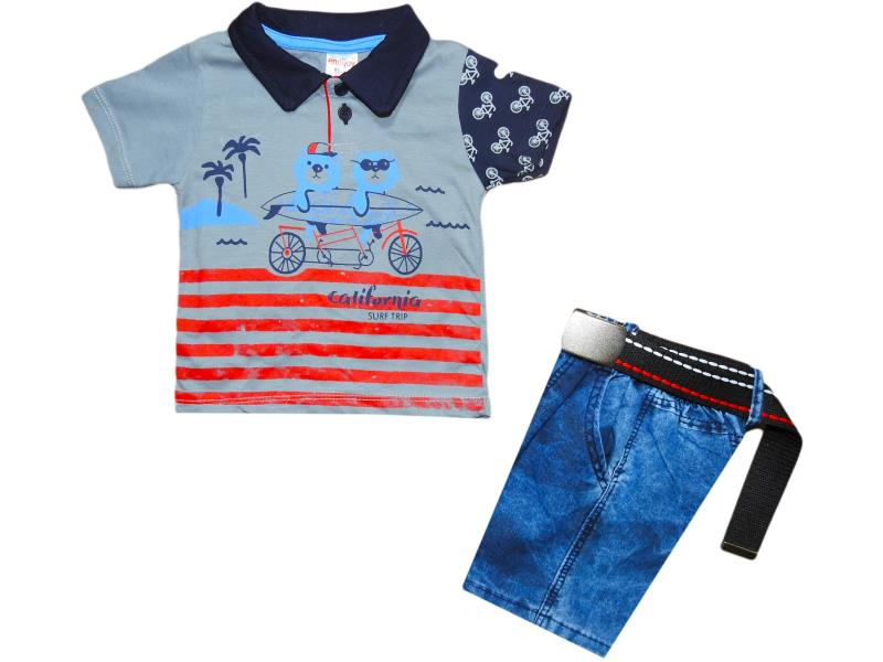 Wholesale suit-two summer, children's, Polo shirt +Capri jeans,for boys for 1-2-3-4