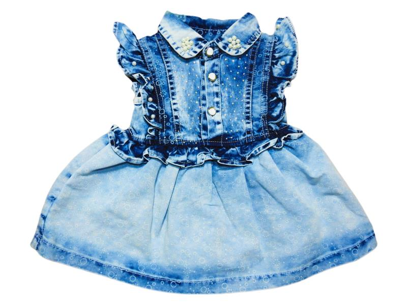 925 Wholesale baby denim dress for kids for 6-12-18-24 months