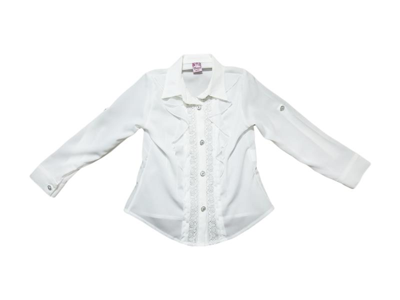 8021 Wholesale children's blouses school for girls on  5-6-7-8 age