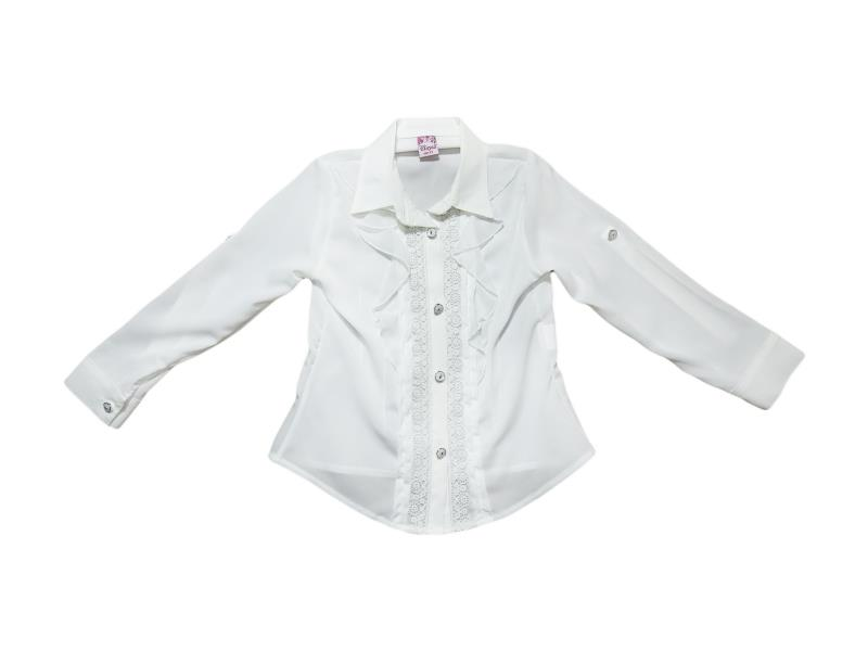 8022 Wholesale children's blouses school for girls on 9-10-11-12 years
