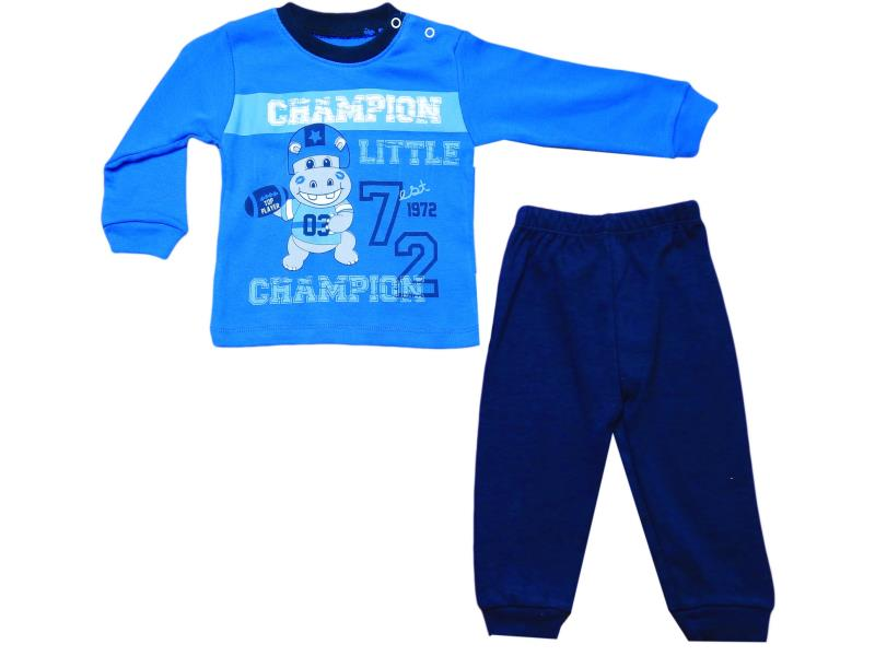 259 Wholesale children's suit-two, blouse with print champion+pants, for boys 9-12-18 months