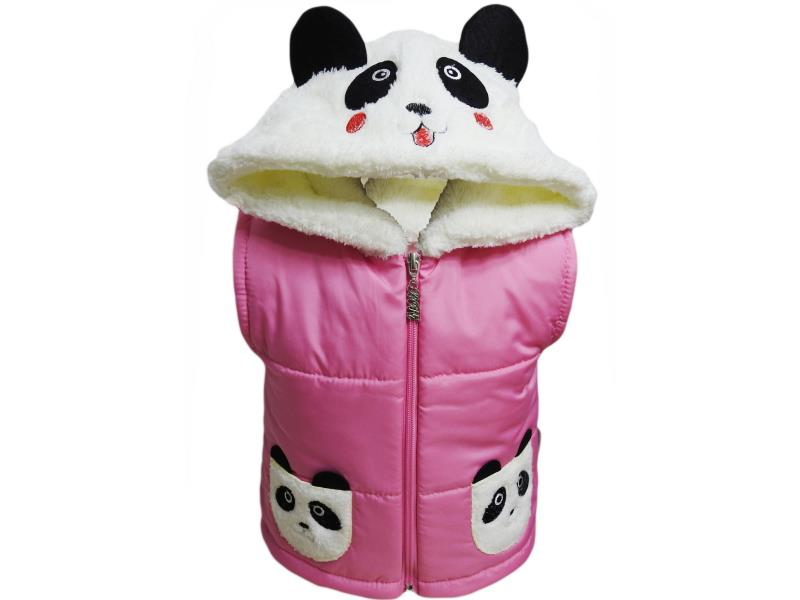148 Wholesale children's vests on polyester polyester hooded Panda, for girls 2-3-4 years