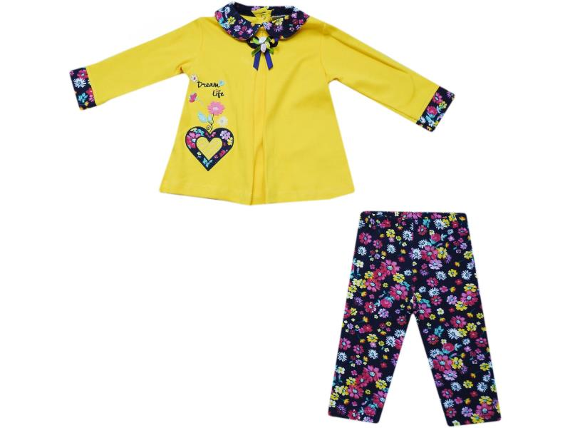 650 Wholesale children's set-two, blouse long + pants, for babies 6-9-12 months