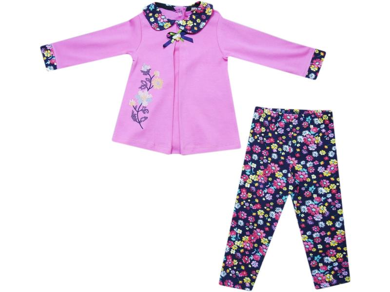 651 Wholesale children's set-two, blouse long + pants, for babies 6-9-12 months