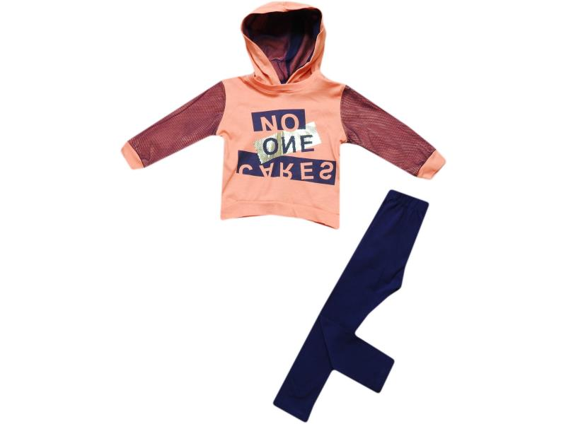 18223-K two-piece Suit sports with print no one, hooded, two-thread,for girls and boys 9-12-18-24 months