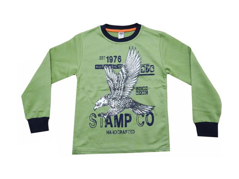 5456.1 wholesale children's t-shirt with eagle print,long sleeve,for boys 10-12-13-14-16 age