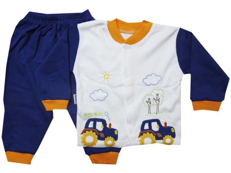 50- Two piece tractor printed set for hirl babies   3-6-9 month