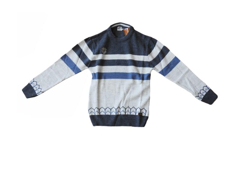 3051 Wholesale children's pullover, sweater in a strip for boys for 10-12-14 years