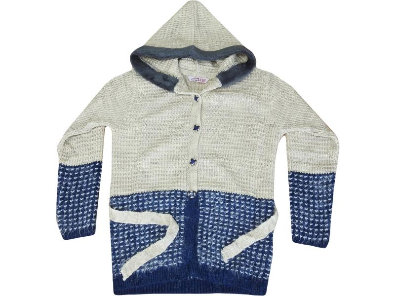 8075 Hooded cardigan for girl children 10-12-14 age
