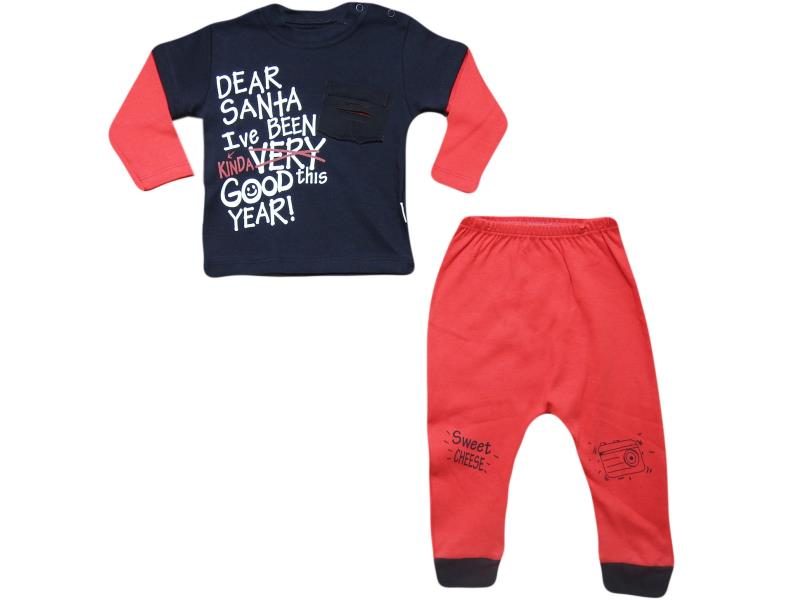1837two piece boy babay kit. SWEET CHEESE embroidered 9-12-18 month