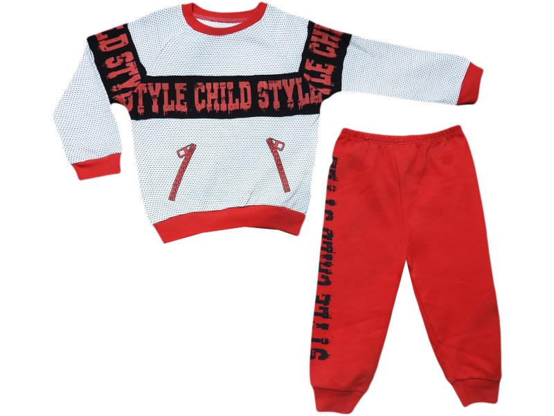 1866 two piece suits for boy babies.CHİLD STYLE printed  9-12-18 months