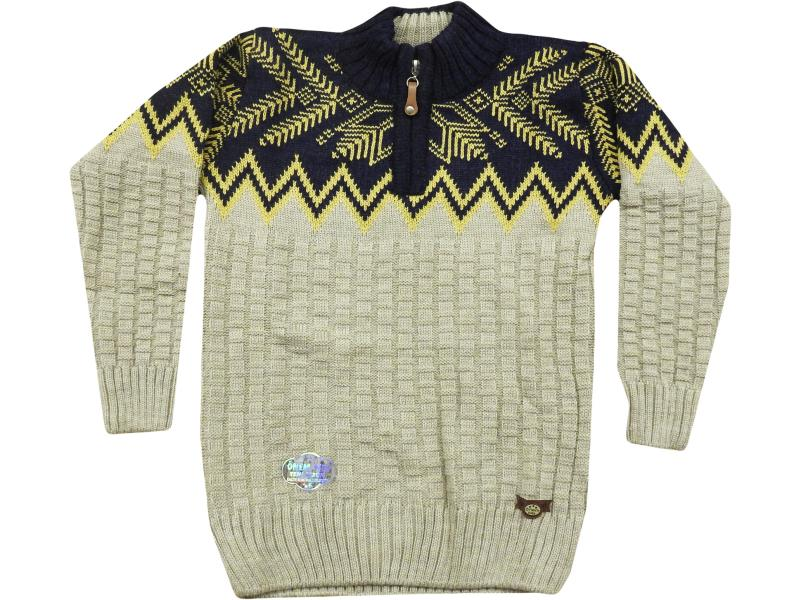 503 zippered sweater for boy children   4-6-8 age