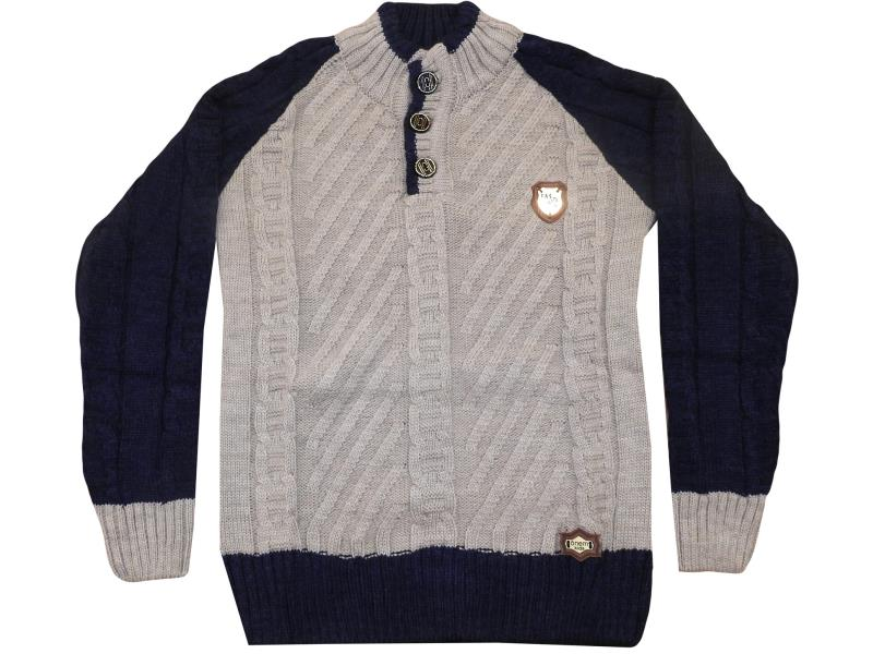 506 wholesale children's knitted pullovers with three buttons, for boys for 4-6-8 years