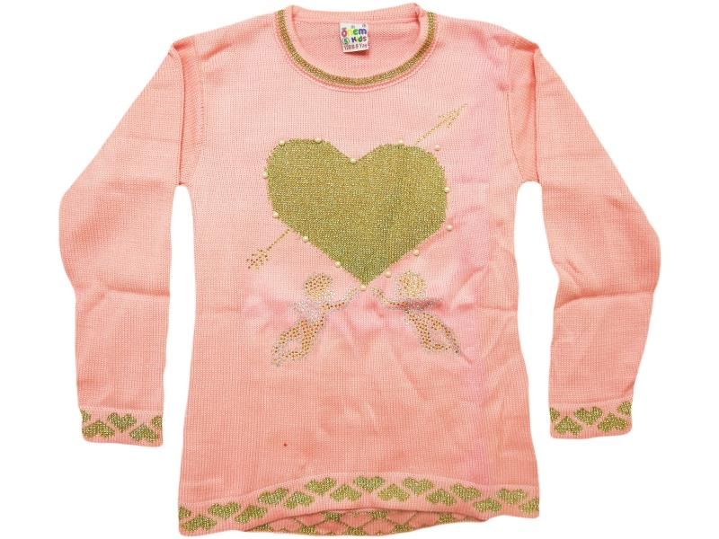 711 heart embroidered  set for girl babies 4-6-8 age