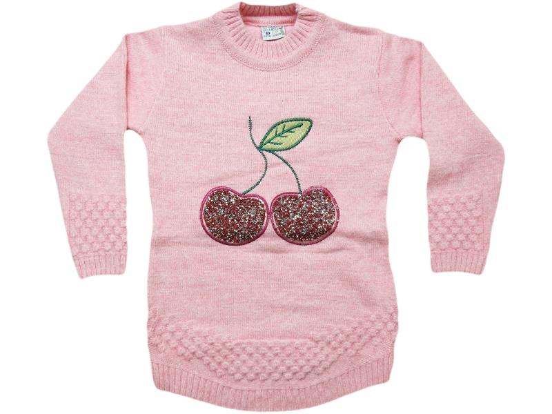 863 cherry embroidered sweaters for girls babies  4-6-8 age