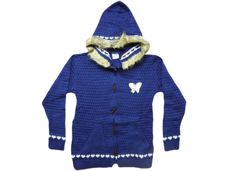 817 hooded cardigan for girl babies 8-10-12 age