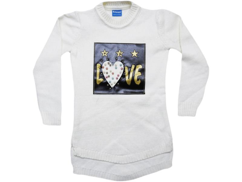 104 girl baby tunic.LOVE (skinned) printed 8-10-12 age
