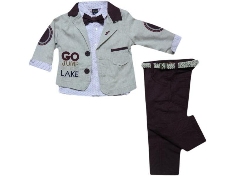 621 triple Go Jump Lake desing set for boy babies 6-9-12-18 month