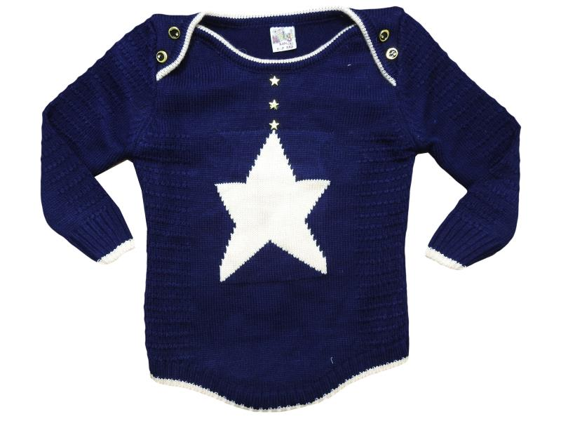 212 Star embroidered sweater for girl babies 1-2-3 age