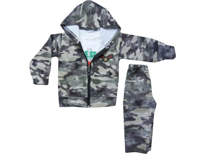 8386 triple baby camouflage set 6-12-18 month