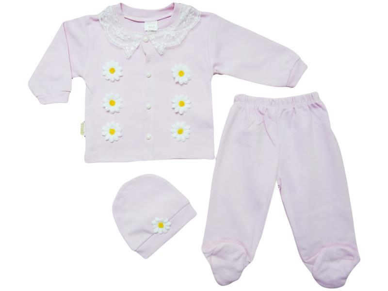 921 daisy embroidered set for girl babies 3-6 month