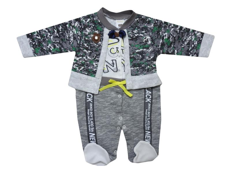 600 kamufaj detailed jacket overalls for baby 3-6-9 month