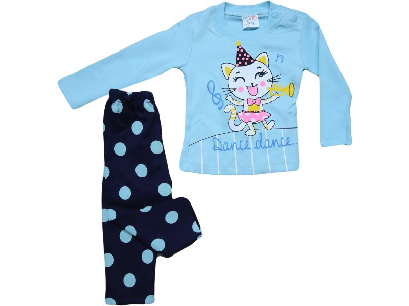 336 DANCE DANCE printed two piece girl baby kit  9-12-18 month