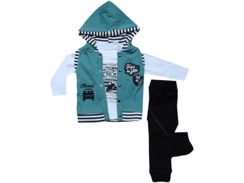 576 classic car embroidered set for baby 6-9-12 month