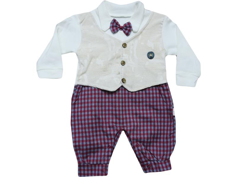 448 bow tie detailed overalls for baby  3-6-9 month