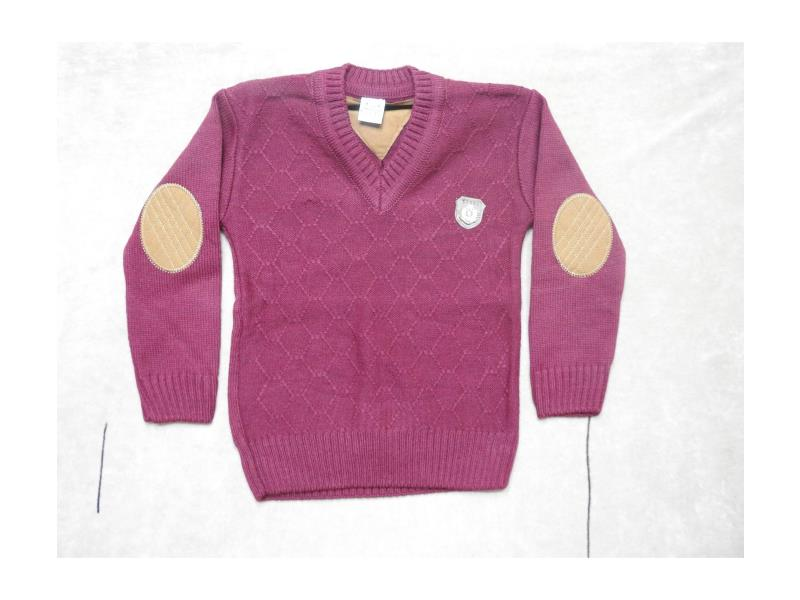 010 Sweater V-neck detalied for boy children  4-6-8 age