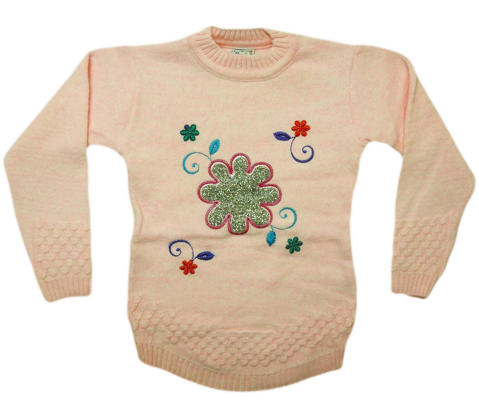 806 Wholesale quality and cheap sweater for girl babies 4-6-8 age