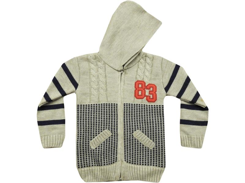 1108 Hooded and 83 printed cardigan for boy babies 1-2-3 age