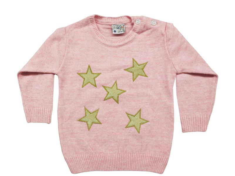 888 Star embroidered sweater for girl babies   1-2-3 age