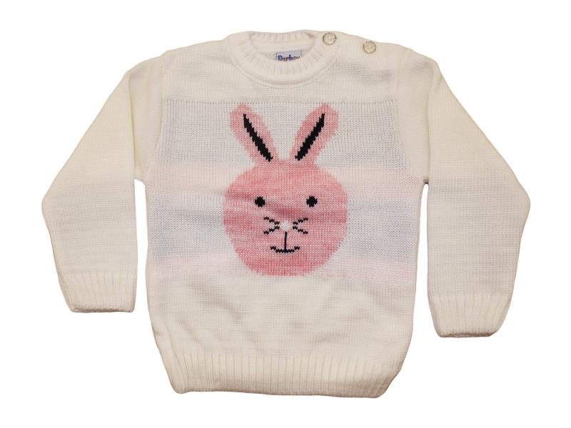 108 Wholesale rabbit printed sweater for girl babies 1-2-3 age