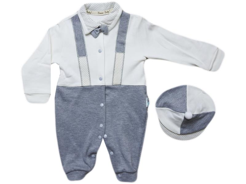 1155  wholesale baby rompers with cap, for boys 3-6-9 months