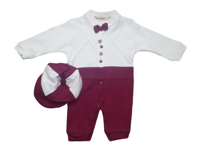 1045 wholesale baby rompers with cap, for boys 3-6-9 months