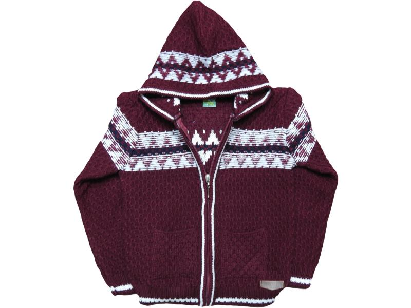 1303 Hooded detailed cardigan for boy babies 1-2-3-4 age